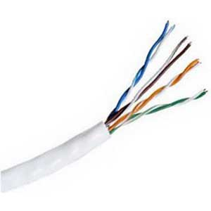 Hitachi 38696-8-WH2 Category 5e UTP Riser Cable; 300 Volt, 4-Pair, 24 AWG, Bare Copper, Thermoplastic Jacket, 0.170 Inch Dia, White