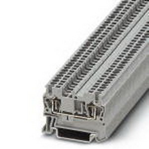 Phoenix Contact Phoenix 3031089 Feed-Thru Terminal Block; 17.5 Amp, 500 Volt, Spring-Cage Connection, NS 35/7.5, NS 35/15 DIN Rail Mount, Polyamide, Blue