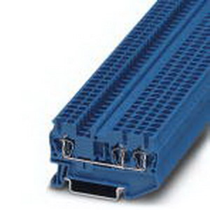 Phoenix Contact Phoenix 3031254 Feed-Thru Terminal Block; 24 Amp, 800 Volt, Spring-Cage Connection, NS 35/7.5, NS 35/15 DIN Rail Mount, Polyamide, Blue