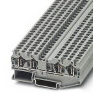 Phoenix Contact Phoenix 3031445 Feed-Thru Terminal Block; 32 Amp, 800 Volt, Spring-Cage Connection, NS 35/7.5, NS 35/15 DIN Rail Mount, Polyamide, Gray