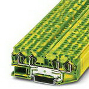 Phoenix Contact Phoenix 3031461 Ground Modular Terminal Block; Spring-Cage Connection, NS 35/7.5, NS 35/15 DIN Rail Mount, Polyamide, Green/Yellow