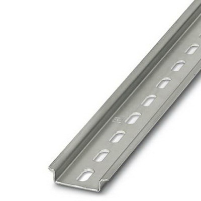 Phoenix Contact Phoenix 0807012 NS 35/7.5 Perforated DIN Rail; 1000 mm Length, Steel