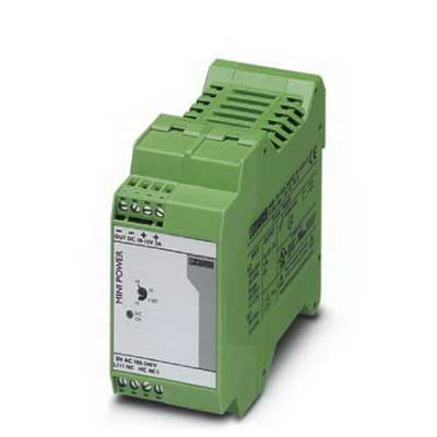 Phoenix Contact Phoenix 2938756 MINI-PS-100-240AC/10-15DC/2 Power Supply Unit; 2/2.3 Amp, 10/12/15 Volt DC Output, 1 Phase, Horizontal and NS 35 DIN Rail Mount