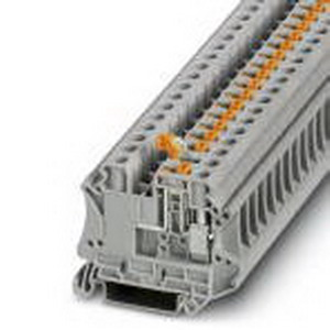 Phoenix Contact Phoenix 3064069 Knife Disconnect Terminal Block; 20 Amp, 500 Volt, M4 Screw Connection, NS 35/7.5, NS 35/15 DIN Rail Mount, Polyamide, Gray