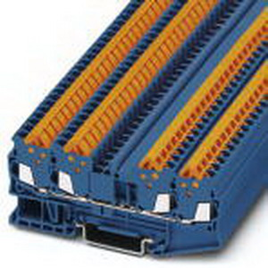 Phoenix Contact Phoenix 3205080 Feed-Thru Terminal Block; 17.5 Amp, 800 Volt, Quick Connection, NS 35/7.5 DIN Rail Mount, Polyamide, Blue