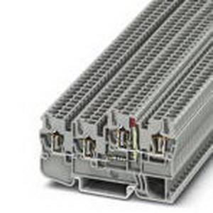 Phoenix Contact Phoenix 3209028 Sensor/Actuator Terminal Block; 18 Amp, 24 Volt, Spring-Cage Connection, Polyamide, Gray