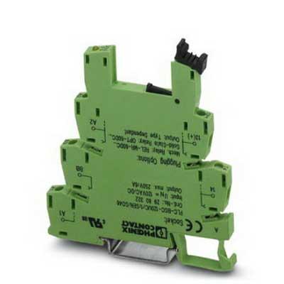 Phoenix 2980322 PLC-BSC-120UC/ 1/SEN/SO46 Relay Socket 120 Volt AC Input  NS 35/7.5 Din Rail Mount