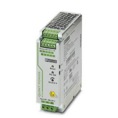 """""Phoenix Contact Phoenix 2320908 QUINT 1AC/24DC/5/CO Power Supply With Protective Coating 5/7.5/30 Amp, 24 Volt DC Output, 1 Phase, Horizontal and NS 35 DIN Rail Mount,"""""" 115824"
