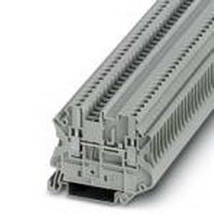 Phoenix Contact Phoenix 3064098 Feed-Thru Terminal Block; 24 Amp, 630 Volt, M3 Screw Connection, NS 35/7.5, NS 35/15 DIN Rail Mount, Polyamide, Gray