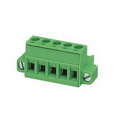 Phoenix 1876628 Printed-Circuit Board Connector/Plug Component 12 Amp  320 Volt  M3 Screw Connection  5 Position DIN Rail Mount  Polyamide  Green
