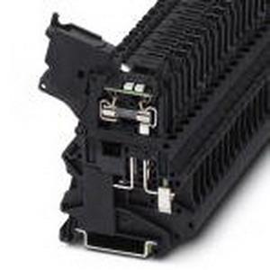 Phoenix Contact Phoenix 3046090 Fuse Modular Terminal Block; 6.3 Amp, 24 Volt, M3 Screw Connection, DIN Rail Mount, Polyamide, Black