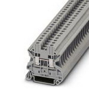 Phoenix Contact Phoenix 3044102 Feed-Thru Terminal Block; 32 Amp, 1000 Volt, M3 Screw Connection, NS 35/7.5, NS 35/15 DIN Rail Mount, Polyamide, Gray