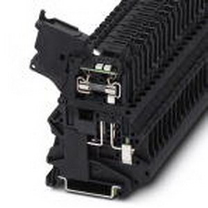 Phoenix Contact Phoenix 3046100 Fuse Modular Terminal Block; 6.3 Amp, 250 Volt, M3 Screw Connection, Polyamide, Black