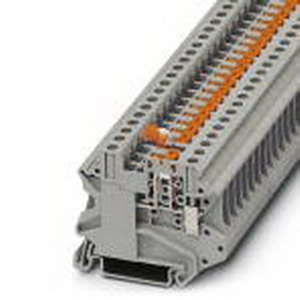 Phoenix Contact Phoenix 3046139 Knife Disconnect Terminal Block; 20 Amp, 500 Volt, M3 Screw Connection, NS 35/7.5, NS 35/15 DIN Rail Mount, Polyamide, Gray
