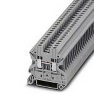 Phoenix Contact Phoenix 3044076 Feed-Thru Terminal Block; 24 Amp, 1000 Volt, M3 Screw Connection, NS 35/7.5, NS 35/15 DIN Rail Mount, Polyamide, Gray
