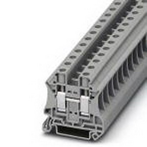 Phoenix Contact Phoenix 3044160 Feed-Thru Terminal Block; 57 Amp, 1000 Volt, M4 Screw Connection, NS 35/7.5, NS 35/15 DIN Rail Mount, Polyamide, Gray