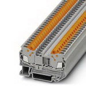 Phoenix Contact Phoenix 3206416 Feed-Thru Terminal Block; 24 Amp, 800 Volt, Quick Connection, NS 35/7.5, NS 35/15 DIN Rail Mount, Polyamide, Gray