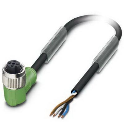 Phoenix Contact Phoenix 1696989/186/.4 SAC-4P-M12FR/186/0.4 Sensor/Actuator Cable; 0.4 m, 4 Position, PUR, Black-Gray RAL 7021
