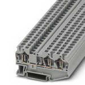 Phoenix Contact Phoenix 3031393 Feed-Thru Terminal Block; 32 Amp, 800 Volt, Spring-Cage Connection, NS 35/7.5, NS 35/15 DIN Rail Mount, Polyamide, Gray