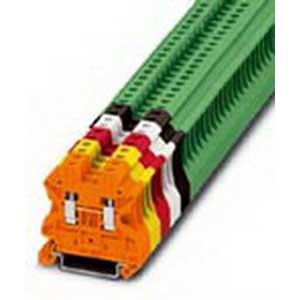 Phoenix Contact Phoenix 3045156 Feed-Thru Terminal Block; 32 Amp, 1000 Volt, M3 Screw Connection, NS 35/7.5, NS 35/15 DIN Rail Mount, Polyamide, Green