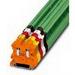 Phoenix 3045156 Feed-Thru Terminal Block; 32 Amp, 1000 Volt, M3 Screw Connection, NS 35/7.5, NS 35/15 DIN Rail Mount, Polyamide, Green