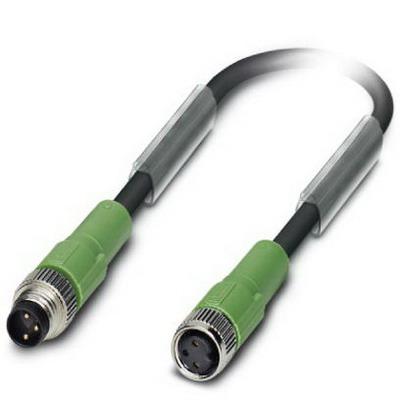 Phoenix Contact Phoenix 1681923 SAC-3P-M 8MS/ 1.5-PUR/M 8FS Sensor/Actuator Cable; 1.5 m, 3 Position, PUR Halogen-Free, Black-Gray RAL 7021