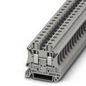 Phoenix Contact Phoenix 3044131 Feed-Thru Terminal Block; 41 Amp, 1000 Volt, M4 Screw Connection, NS 35/7.5, NS 35/15 DIN Rail Mount, Polyamide, Gray