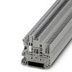 Phoenix Contact Phoenix 3045017 Feed-Thru Terminal Block; 24 Amp, 500 Volt, M3 Screw/Plug-In Connection, NS 35/7.5, NS 35/15 DIN Rail Mount, Polyamide, Gray