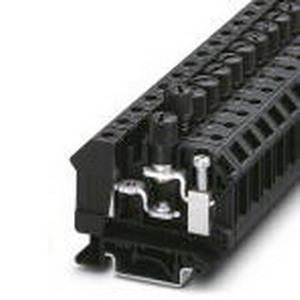 Phoenix 3005646 Fuse Modular Terminal Block; 10 Amp, 400/800 Volt, M4 Screw Connection, Polyamide, Black