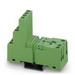 Phoenix Contact Phoenix 2833576 PR2-BSC3/4X21 Relay Socket; 12 Amp, 300 Volt AC/DC Input, NS 35/7.5 Din Rail Mount
