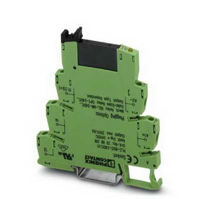 Phoenix Contact Phoenix 2966650 PLC-OSC-120UC/ 24DC/ 2 Solid-State Relay Module; 3.5 Milli-Amp Input, 120 Volt AC, 110 Volt DC Input, 3 - 33 Volt DC Output, NS 35/7.5 DIN Rail Mount