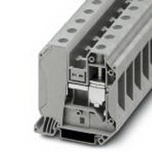 Phoenix Contact Phoenix 3044225 Feed-Thru Terminal Block; 125 Amp, 1000 Volt, M6 Screw Connection, NS 35/7.5, NS 35/15 DIN Rail Mount, Polyamide, Gray