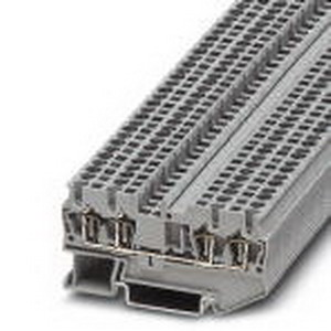 Phoenix 3037449 Feed-Thru Terminal Block; 24 Amp, 800 Volt, Spring-Cage Connection, NS 35/7.5, NS 35/15 DIN Rail Mount, Polyamide, White