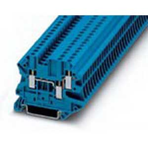 Phoenix Contact Phoenix 3044526 Feed-Thru Terminal Block; 24 Amp, 500 Volt, M3 Screw Connection, NS 35/7.5, NS 35/15 DIN Rail Mount, Polyamide, Blue