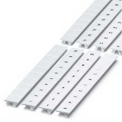 Phoenix 10530270001 ZB10.QRFORTL.ZAHLEN 10 Section Zack Marker Strip Polyamide White 1 - 10