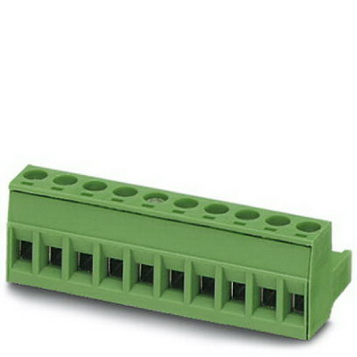 Phoenix Contact Phoenix 1757132 Printed-Circuit Board Connector/Plug Component; 12 Amp, 320 Volt, M3 Screw Connection, 14 Position, Polyamide, Green