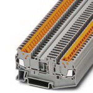 Phoenix 3205145 Disconnect Terminal Block; 17.5 Amp, 400 Volt, Quick Connection, NS 35/7.5, NS 35/15 DIN Rail Mount, Polyamide, Gray