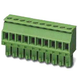 Phoenix 1827156 Printed-Circuit Board Connector; 8 Amp, 160/320 Volt, M2 Screw Connection, 5 Position, Polyamide, Green