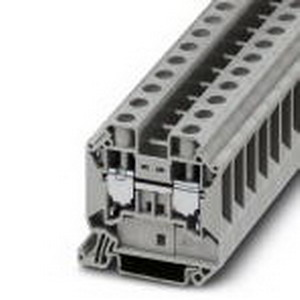 Phoenix Contact Phoenix 3044199 Feed-Thru Terminal Block; 76 Amp, 1000 Volt, M5 Screw Connection, NS 35/7.5, NS 35/15 DIN Rail Mount, Polyamide, Gray