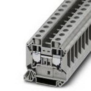 Phoenix 3044199 Feed-Thru Terminal Block; 76 Amp, 1000 Volt, M5 Screw Connection, NS 35/7.5, NS 35/15 DIN Rail Mount, Polyamide, Gray
