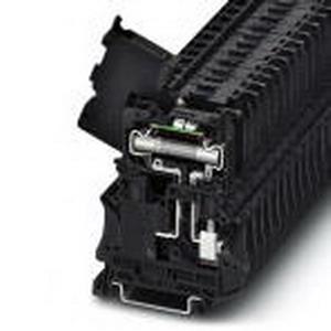 Phoenix 3046430 Fuse Modular Terminal Block; 10 Amp, 250 Volt, M4 Screw Connection, Polyamide, Black