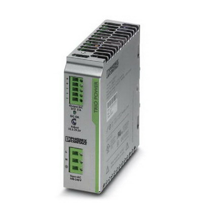 Phoenix Contact Phoenix 2866310 TRIO-PS/ 1AC/24DC/10 Primary-Switched Mode Power Supply Unit; 5 Amp, 24 Volt DC Output, 1 Phase, 120 Watt, Horizontal and NS 35 DIN Rail Mount