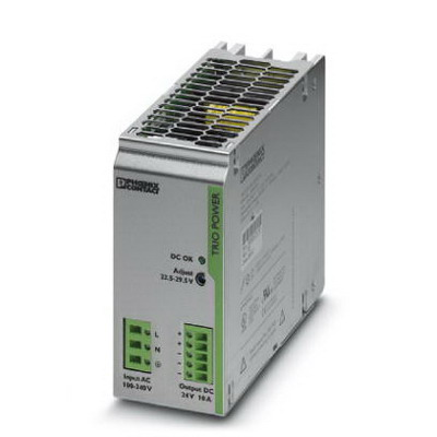 Phoenix 2866323 TRIO-PS/ 1AC/24DC/10 Primary-Switched Mode Power Supply Unit; 10 Amp, 24 Volt DC Output, 1 Phase, 240 Watt, Horizontal and NS 35 DIN Rail Mount