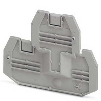 Phoenix Contact Phoenix 3047293 D-UTTB 2.5/4 End Cover; Gray, DIN Rail, Horizontal, NS 35/7.5, NS 35/15 Mount