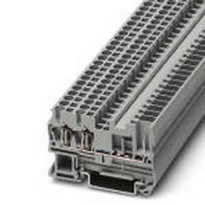 Phoenix Contact Phoenix 3042117 Feed-Thru Terminal Block; 24 Amp, 500 Volt, Spring-Cage/Plug-In Connection, NS 35/7.5, NS 35/15 DIN Rail Mount, Polyamide, Gray