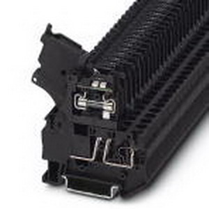 Phoenix Contact Phoenix 3036563 Fuse Modular Terminal Block; 6.3 Amp, 250 Volt, Spring-Cage Connection, Polyamide, Black