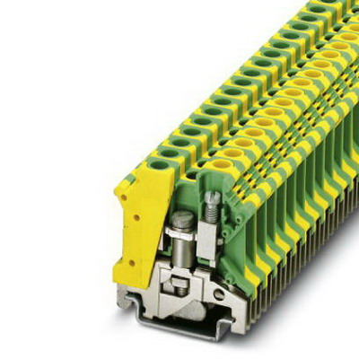 Phoenix Contact Phoenix 0442079 ILC 151 ETH Ground Modular Terminal Block; M4 Screw Connection, 2 Position,NS 35/7.5, NS 35/15, NS 32 DIN Rail Mount, Polyamide, Green/Yellow