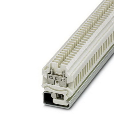 Phoenix 0501059 SR2PACK Feed-Thru Terminal Block; 24 Amp, 690 Volt, M3 Screw Connection, NS 32 DIN Rail Mount, White