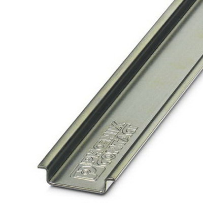 Phoenix Contact Phoenix 0801681 NS 35/7.5 Unperforated DIN Rail; 2000 mm Length, Steel
