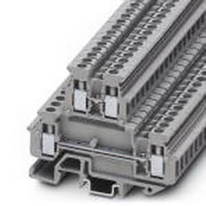 Phoenix Contact Phoenix 1414064 Mini Feed-Thru Terminal Block; 24 Amp, 500 Volt, M3 Screw Connection, NS 15, NS 35/7.5, NS 35/15 DIN Rail Mount, Polyamide, Gray
